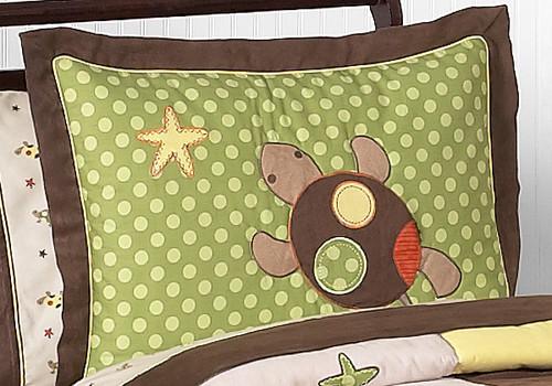 Sea Turtle Kids Pillow Sham contemporary-kids-bedding