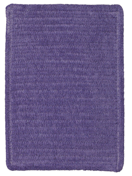 Chenille Creations rug in Royal Purple - Create a comfy, cozy, and custom-made braided rug with Capel's Chenille Creations.  Strands of plush, all-natural, ultra soft cotton chenille weave together to create a soft and vibrant room accent.
