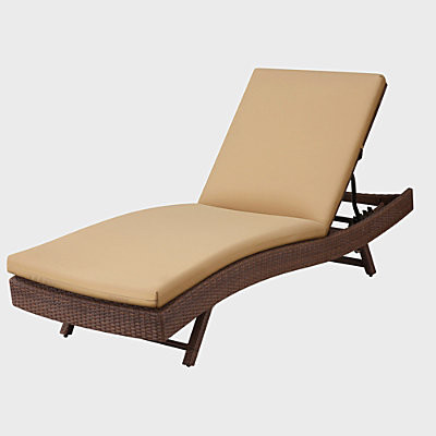 "Sun Lounger Cushion 76""x23-1/2""x3"" - Khaki contemporary-outdoor-cushions-and-pillows"