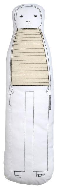 K Studio - Male Figure Pillow modern-decorative-pillows