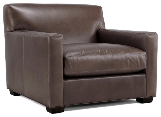 St. Jean Leather Chair contemporary-accent-chairs