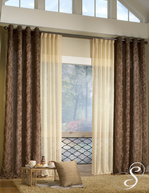 Modern curtains in living room home decorating ideas - Modern living room curtains photos ...