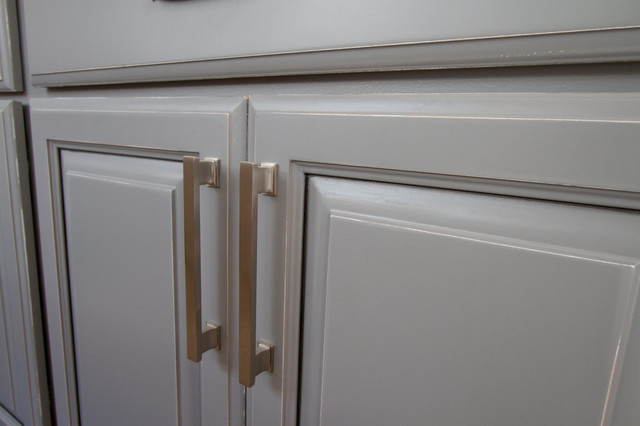 Gray painted kitchen cabinets  Transitional  nashville  by Bella