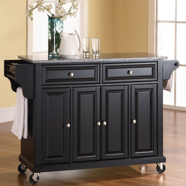 Cool Granite Top Kitchen Cart