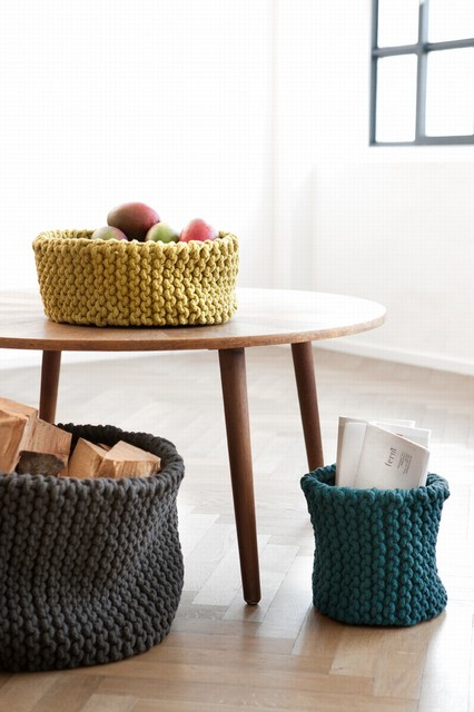 Knitted Basket eclectic-baskets