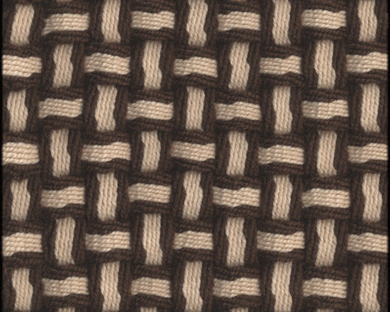 Natural Fiber Rugs & Carpets - Our Barbara Brown White semi-worsted wool rug is self bound all around. It is offered in any size.  All rugs are made to order.  Please allow 12 - 16 weeks for delivery.  Purchase at Hemphill's Rugs & Carpets Orange County, California www.RugsAndCarpets.com