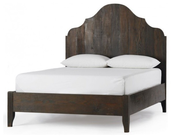 Vintage wood gustavian bed traditional beds by vivaterra Traditional wood headboard