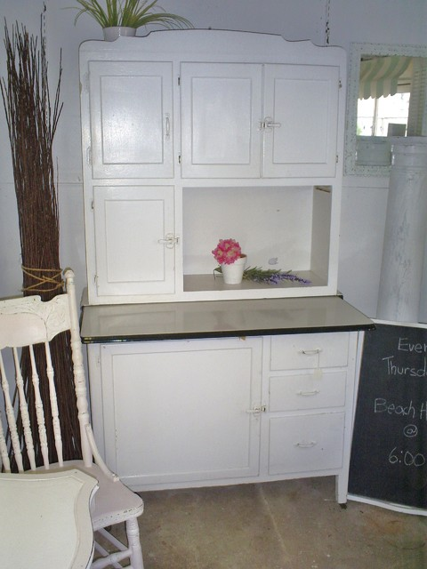 antique hoosier cabinet - Eclectic - Kitchen - new york - by backporchco