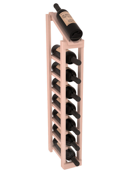 Wine Racks America - 1 Column 8 Row Display Top Kit in Redwood, White Wash Stain - Make your best vintage the focal point of your cellar or store. The slim design is a perfect fit for almost any space. Our wine cellar kits are constructed to industry-leading standards. You'll be satisfied. We guarantee it. Display top wine racks are perfect for commercial or residential environments.