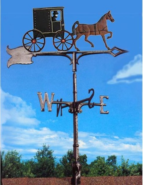 Painted Amish Buggy Weathervane - modern - outdoor decor - - by ...
