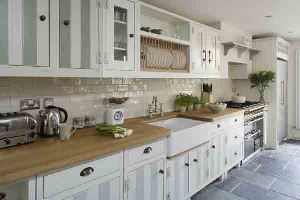 White kitchen with wooden countertop and white brick backsplash 1 jpg - White brick backsplash ...