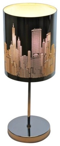 Even if you dont have a room with a view you can still see the skyline with the contemporary table lamps