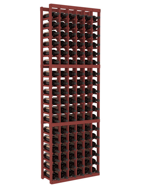 Wine Racks America - 6 Column Standard Wine Cellar Kit in Pine, Cherry - Six columns for bottle storage is a perfect solution for 9 cases of wine. The modular format ensures you can expand storage without worrying about new racks lining up properly. We construct every rack to our industry-leading standards. You'll love our racks. Guaranteed.
