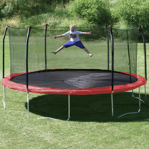 17' x15' Oval Trampoline with Safety Enclosure modern-picture-frames