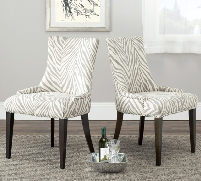 Safavieh Becca Zebra Grey Dining Chair Contemporary  : contemporary dining chairs from www.houzz.com size 640 x 576 jpeg 97kB