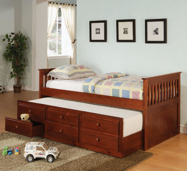 Transitional Twin Size Daybed - Cherry in Cherry transitional-day-beds-and-chaises