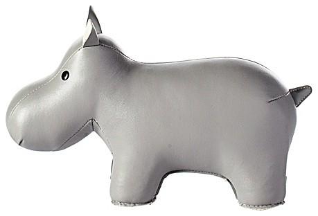 Menagerie Bookend, Gray Hippo contemporary-bookends