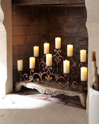 Orante Fireplace Candelabra traditional candles and candle holders