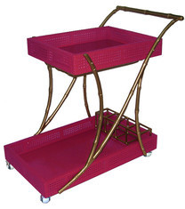 The Tipple Trolley, Gold/Pink asian bar carts