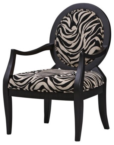Zebra Print Occasional Arm Chair contemporary-chairs