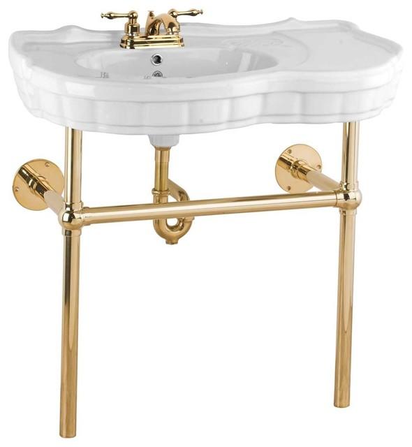 Bathroom Sink Legs : ... Sink Bistro Brass Leg 4