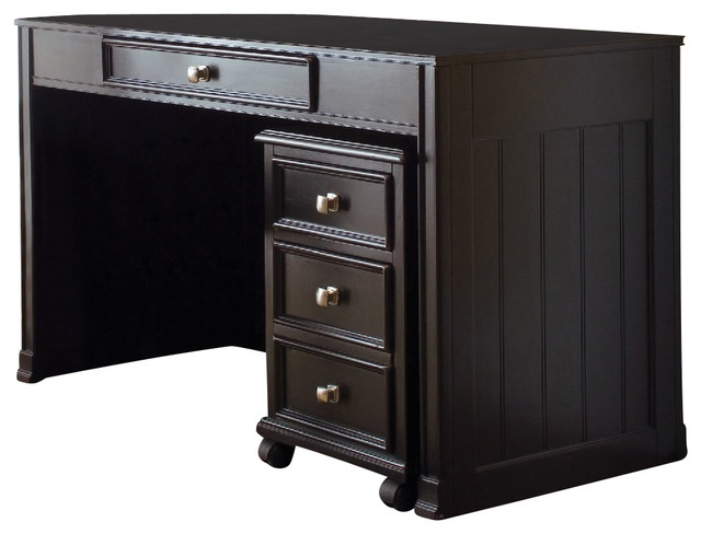 American Drew Camden Dark Desk In Black Traditional