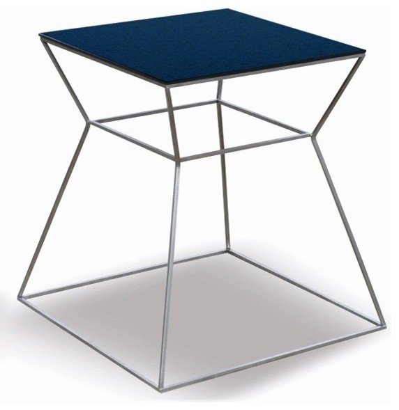 Soho Gakko End Table with Black Glass Top - Traditional ...