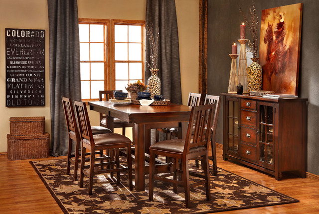 Mesa Rustica 5 Pc Counter Height Dining Group Dining