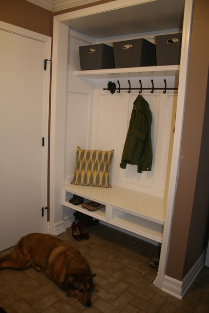 Open Foyer Closet : Closet conversion into mudroom modern detroit