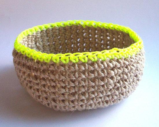 Crochet Nesting Bowl - Neon Yellow/Large – Follow -