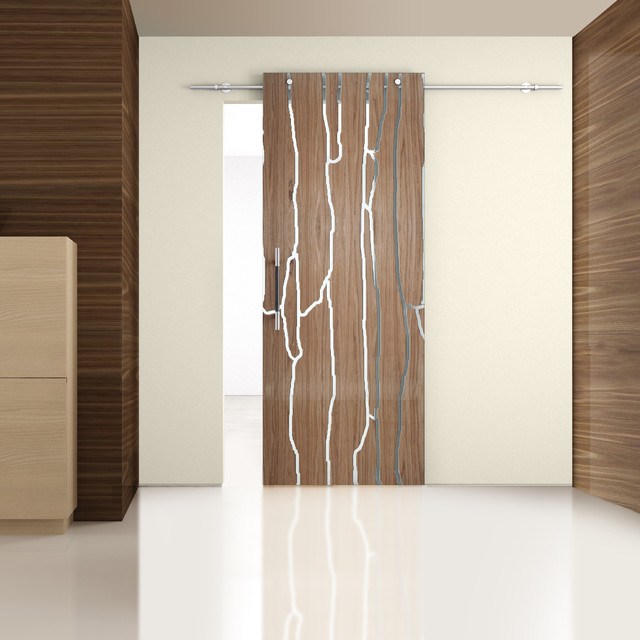 Laminated wood modern interior doors other metro for Contemporary interior doors
