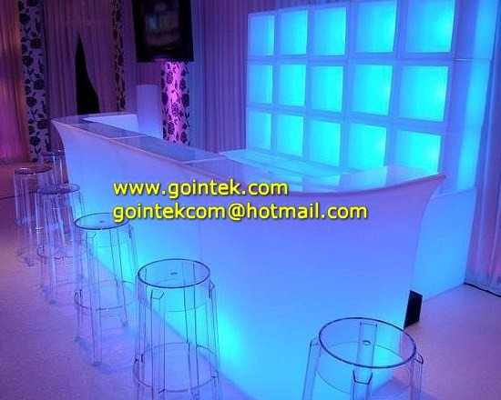 Rechargeable Battery Glowing Led Bar Counter -