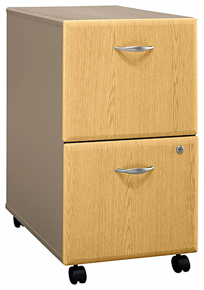 Rolling Two-Tone Cabinet - Series A - Contemporary - Filing Cabinets - by ivgStores