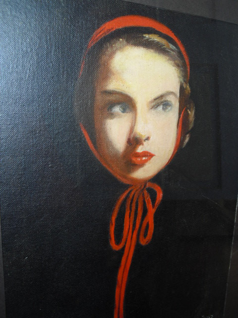 Framed Pin up Girl Face by J.N. Sapa by The Enchanted Attic modern-originals-and-limited-editions