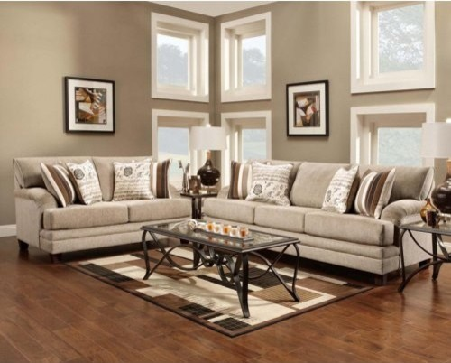 Chelsea Home Lisa Sofa and Loveseat Set - Lifeline Taupe modern-sofas
