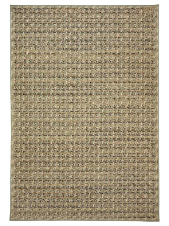 Terrace Houndstooth rug in Spa - Wilton-woven for Indoor or Outdoor use, the Terrace Collection sets the standard for this category using seven colors - most indoor/outdoor rugs use two to three at most.