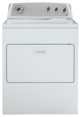 Whirlpool Dryer. Gas Dryer. 7.0 cu. ft. in White WGD4900XW contemporary-gas-ranges-and-electric-ranges