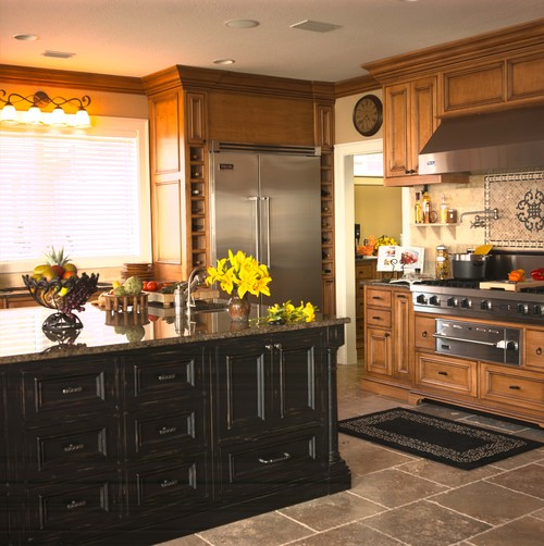 Tropical Brown Granite Kitchen Countertops Design Ideas