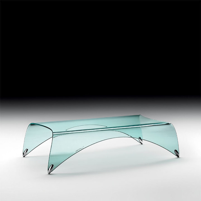 Genio Bent Glass Coffee Table Coffee Tables Other Metro By Modernpalette