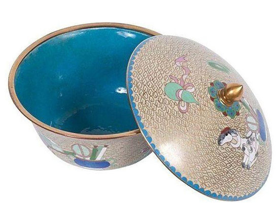 Modernist Cloisonne Bowl from China - Dimensions 5.0ʺW × 5.0ʺD × 6.0ʺH