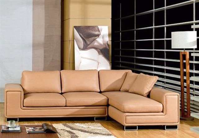 Graceful all italian leather sectional sofa modern for Modern furniture miami