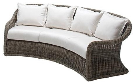curved outdoor sofa with cushions patio furniture traditional outdoor sofas by