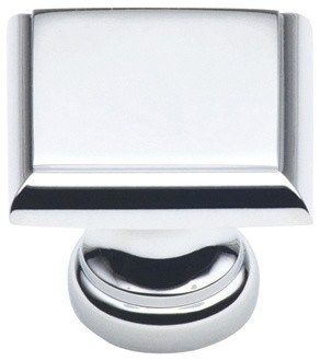 148-PC polished chrome square cabinet knob - Traditional - Cabinet And Drawer Knobs ...