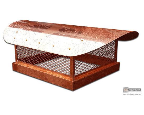 Chimney cap custom made with radius roof - Riverside Sheet Metal