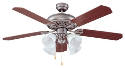 Ellington E-MAN52AN5C4 Manor 52 in. Indoor Ceiling Fan - Antique Nickel traditional-ceiling-fans