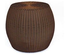 Palmetto All-Weather Wicker Accent Table traditional-side-tables-and-accent-tables