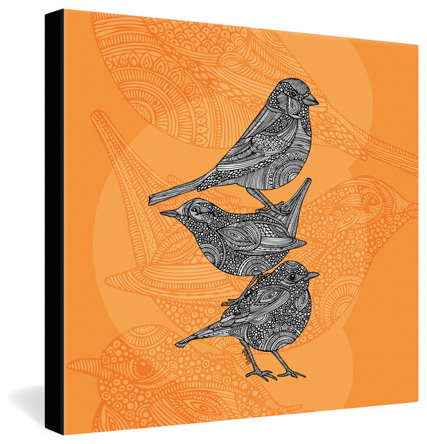 Valentina Ramos 3 Little Birds Gallery Wrapped Canvas eclectic-prints-and-posters