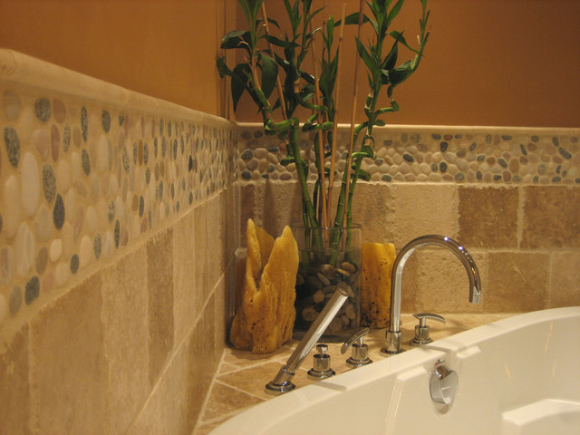 Island Stone pebble bathroom design - Modern - Tile - other metro - by Island Stone