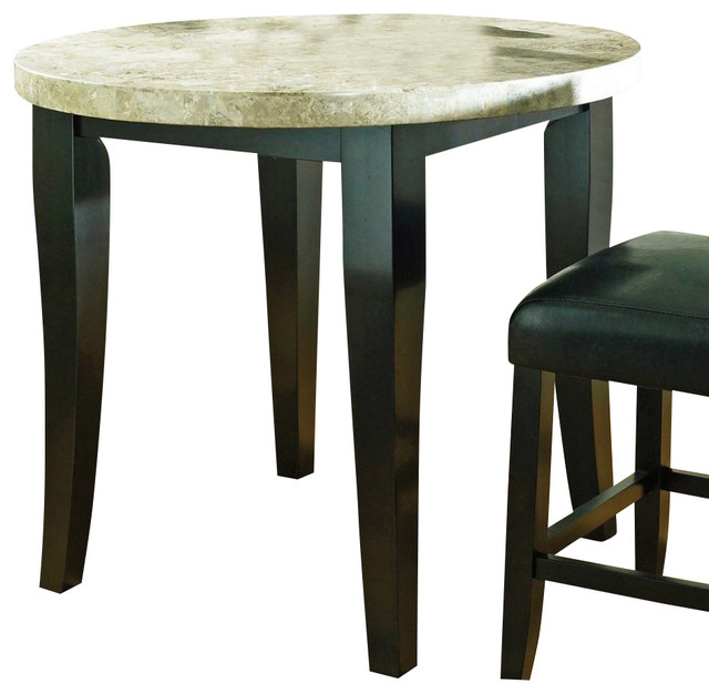 Steve Silver Monarch Marble Top 40 Inch Round Counter  : transitional dining tables from houzz.com size 640 x 626 jpeg 63kB