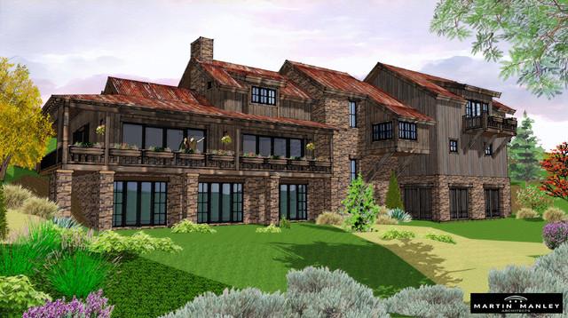 Cordillera Valley Home rustic-rendering